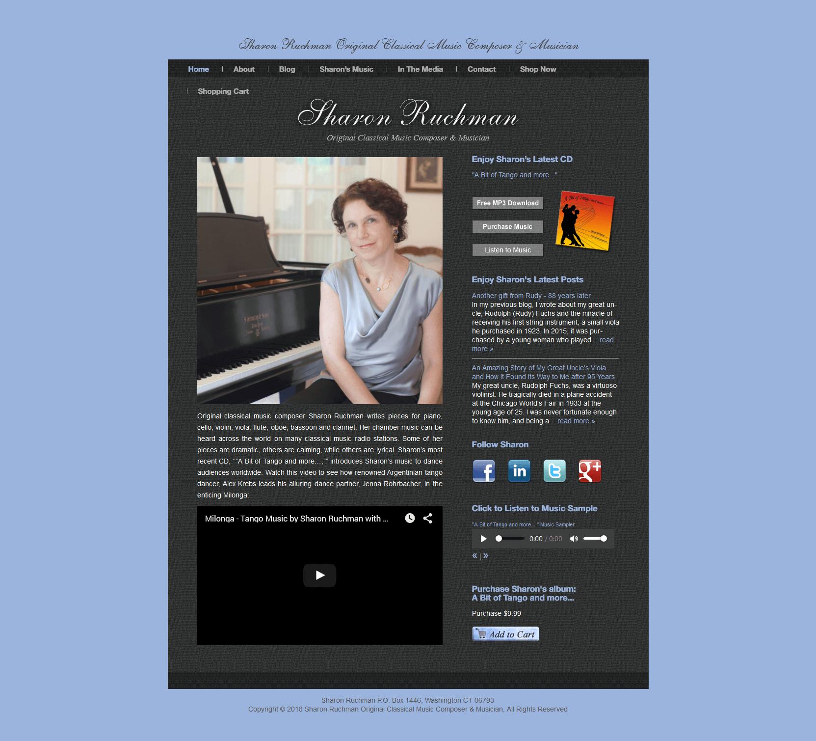 Sharon Ruchman Original Classical Music Composer Musician